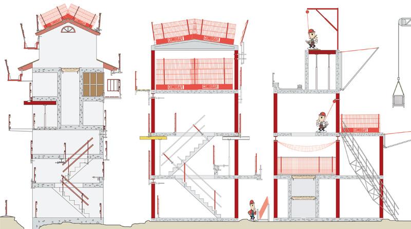 montage escalier d acc s combisafe. Black Bedroom Furniture Sets. Home Design Ideas