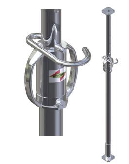 Etai Tirant Poussant galvanis/é de 2.20 /à 3.80 m